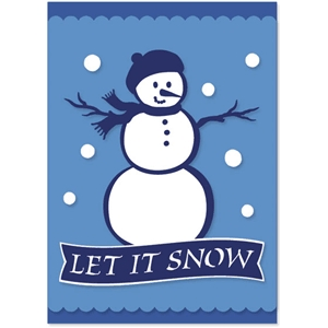 snow woman card