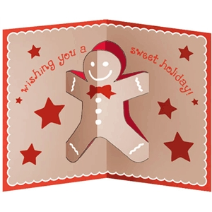 gingerbread man popup card