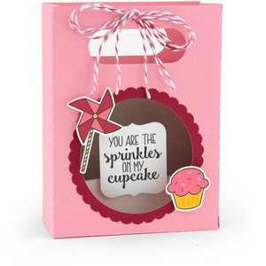 shadowbox gift card bag birthday cupcake