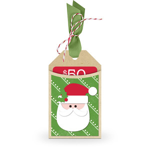 gift card holder tag santa