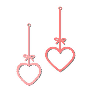 hanging frames - scalloped hearts