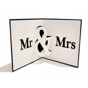 mr and mrs pop up card