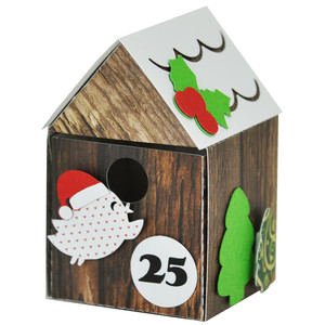 advent birdhouse - boxes with gift drawers