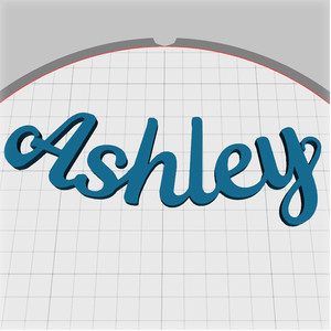 ashley name pendant