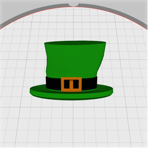 irish buckled hat embellishment