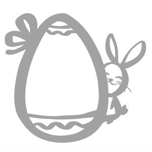 easter egg and bunny photo frame