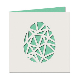 geometric cutout egg card