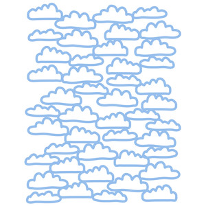 clouds background 8.5x11