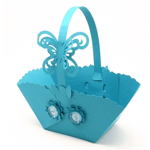 3d basket spring flower butterfly
