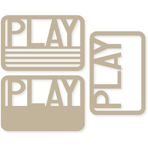 'play' 4x6 life cards