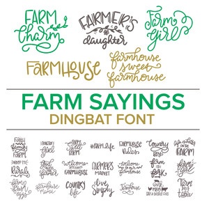 farm sayings dingbat font