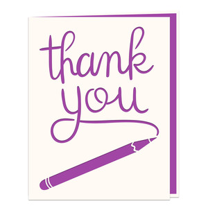 pencil card thank you
