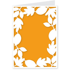leaf frame card - a2 & a7