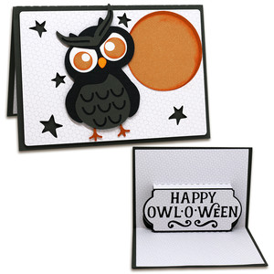 a2 pop-up owl card