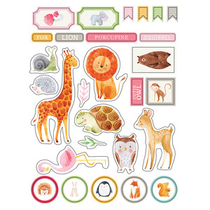 ml watercolor animals stickers