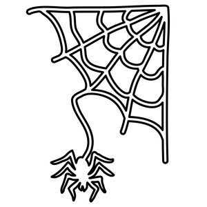 spider web and spider outline