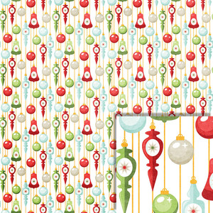 christmas ornaments background paper