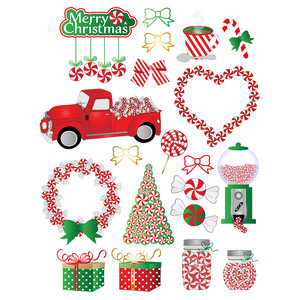 peppermint christmas planner stickers