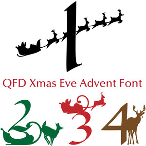 qfd xmas eve advent font