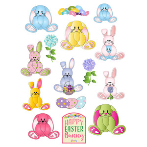 easter bunny planner stickers