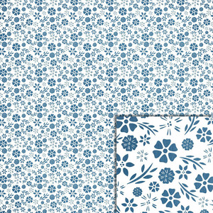 blue floral background paper