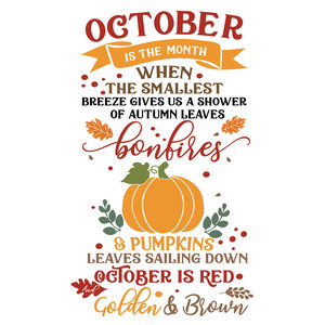 october is the month