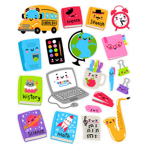 kawaii back to school sticker set 2