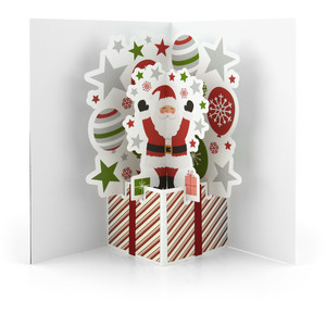 extreme pop up card santa