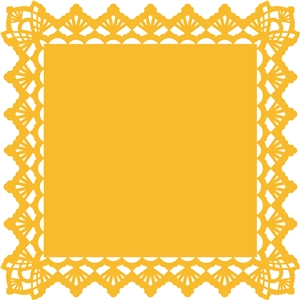 square doily background