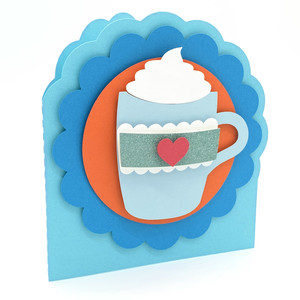 mug with whipped cream card