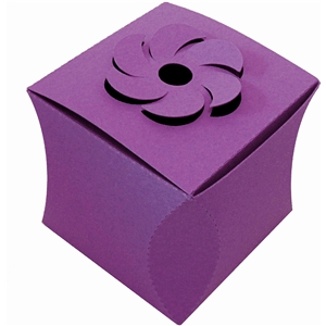 curved cube box w flower