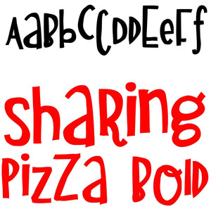 zp sharing pizza bold