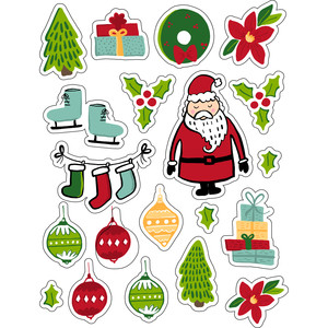 ml santa claus is coming stickers