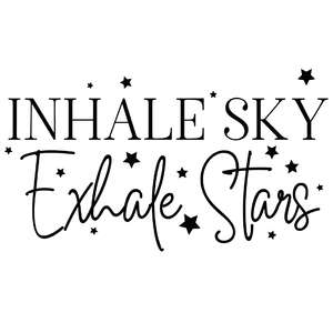 inhale sky exhale stars quote