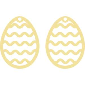 rickrack easter earrings