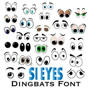 lots of eyes dingbats font