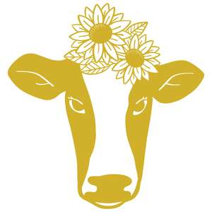 sunflower cow
