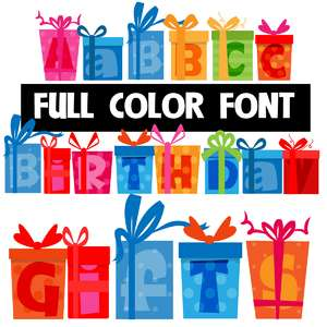 birthday gifts color font