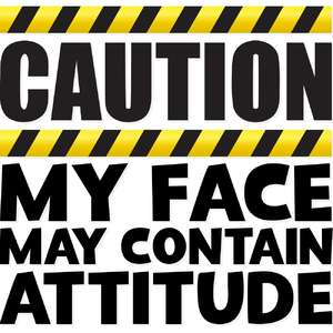 caution my face may contain attitude