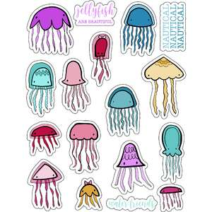 ml jellyfish water stickers