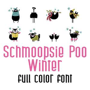 schmoopsie poo winter full color font