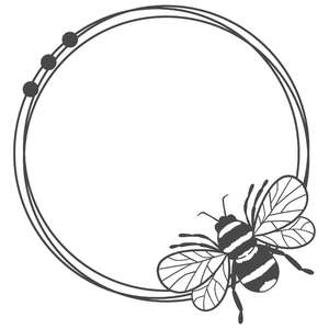 bee messy circle round frame