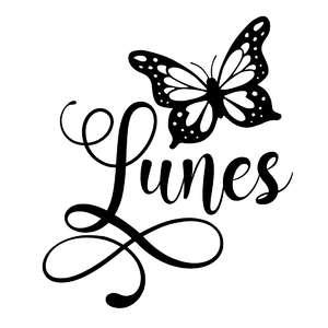 lunes butterfly word