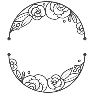 simple floral oval frame