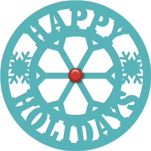 'happy holidays' circle phrase