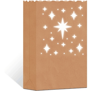 3d paper bag luminary: stars