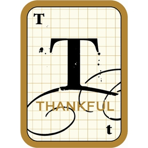 flashcard: thankful