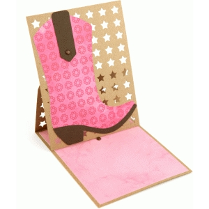 lori whitlock boot easel card