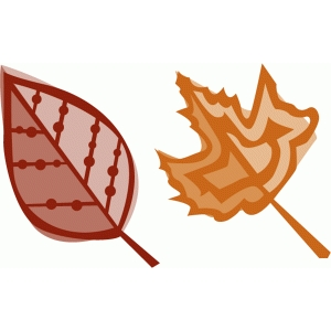 fall leaves set