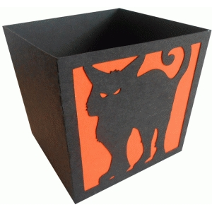 scary cat candy box